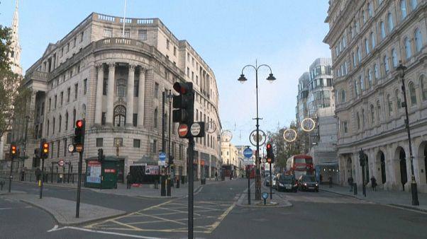 Trafalgar Square as London enters second lockdown