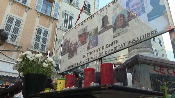 Oito vítimas de desabamento foram homenageadas em Marselha