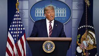 Donald Trump beszédet mond a Fehér Házban november 5-én