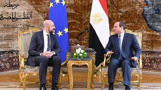 EGYPTIAN PRESIDENCY HANDOUT/EPA