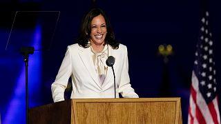 La vice-présidente-élue américaine Kamala Harris lors de son discours de victoire le 7 novembre 2020