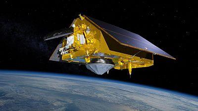 The Sentinel-6 Michael Freilich Satellite Orbits Earth (Illustration)
