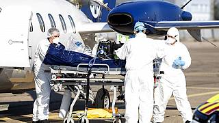 Patiententransport auf dem Flughafen von Straßburg