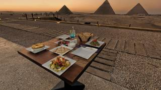 Rosie Lyse-Thompson visits '9 Pyramids Lounge' - the first-ever restaurant on the Pyramids plateau