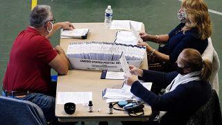 عمليات فرز الأصوات في الانتخابات الرئاسية الأمريية. 2020/11/04