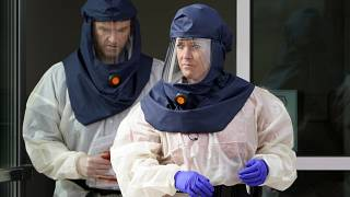 Enfermeros preparados para realizar test de COVID-19 en Salt Lake City, Estados Unidos