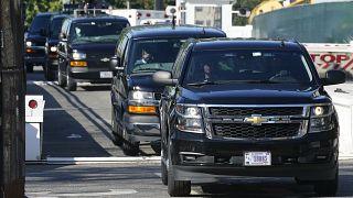 موكب ترامب يغادر البيت الأبيض في واشنطن. 2020/11/07