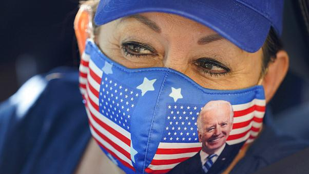 Unterstützerin von Joe Biden und Kamala Harris in San Antonio