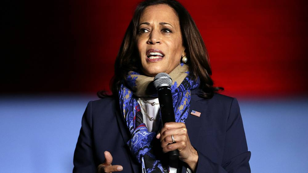 www.euronews.com: US election: Kamala Harris becomes first black woman, South Asian elected Vice President