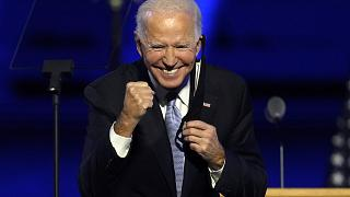 Biden seeks to unite a divided America in victory speech