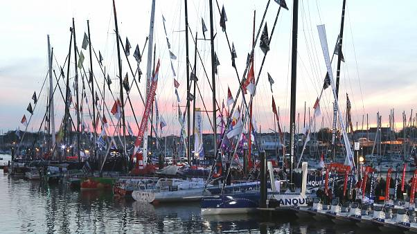 En moyenne, un bateau sur deux termine la course. Aux Sables d'Olonne (France), le mercredi 7 novembre 2012.
