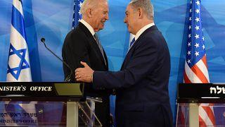 Φωτογραφία αρχείου Μάρτιος 2016: Ο τότε αντιπρόεδρος των ΗΠΑ Τζο Μπάιντεν σε συνάντηση του με τον ισραηλινό πρωθυπουργό Νετανιάχου