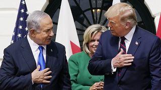 İsrail Başbakanı Binyamin Netanyahu ile ABD Başkanı Donald Trump