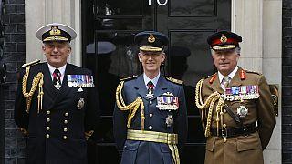 İngiltere Genelkurmay Başkanı Nick Carter (en sağda)