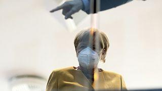 Kanzlerin Angela Merkel bei einer Pressekonferenz in Berlin am 2. November 2020