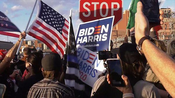 Tensão entre apoiantes de Trump e Biden