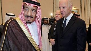 Suudi Arabistan Prensi Selman bin Abdülaziz (solda) ve ABD'nin seçilmiş yeni Başkanı Joe Biden (sağda)