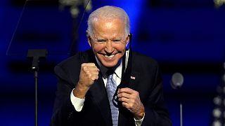 Joe Biden, le président-élu américain lors de son discours de victoire le 7 novembre 2020