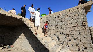 Başkent Bağdat'ta bir füze saldırısı (arşiv)