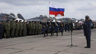 فرودگاه نظامی وورونژ در غرب روسیه