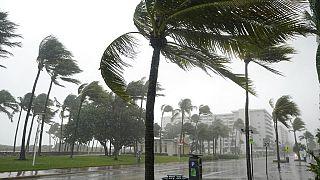 Heavy rains hit Ocean Drive, Florida as Eta approaches Florida Keys.