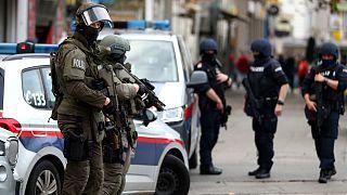 Viyana'da düzenlenen silahlı saldırı sonrası bölgeye intikal eden Avusturya güvenlik güçleri