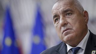 Bulgaria's Prime Minister Boyko Borissov arrives for an EU summit at the European Council building in Brussels, Thursday, Oct. 15, 2020.