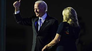 Designierter Präsident Joe Biden mit seiner Frau Jill, 7.11.2020
