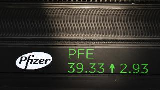 Pfizer sube en el mercado bursátil