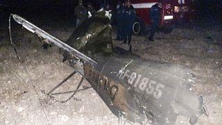 Wrackteil des abgeschossenen Hubschraubers