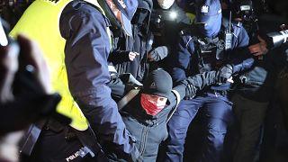 Polizeieinsatz gegen Demonstranten in Warschau