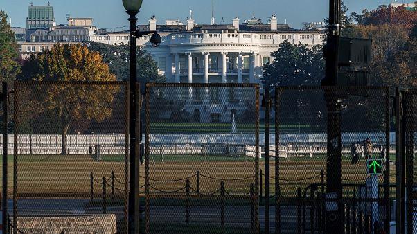 La Maison Blanche transformée en camp retranché, à Washington, le 8 novembre 2020