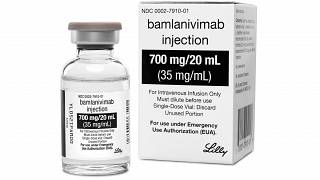 This photo provided by Eli Lilly shows the drug Bamlanivimab