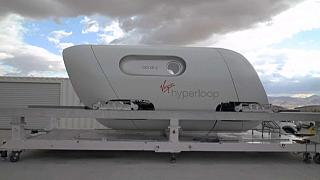 Capsule Hyperloop de Virgin, Nevada, USA