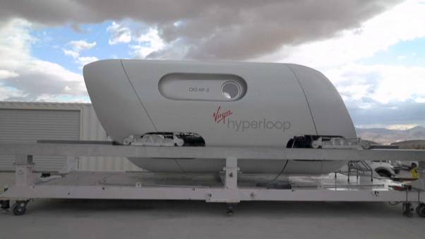 Capsule Hyperloop de Virgin, Nevada, USA