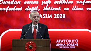 Cumhurbaşkanı Recep Tayyip Erdoğan, Beştepe Millet Kongre ve Kültür Merkezi'nde gerçekleştirilen Atatürk'ü Anma Töreni'ne katılarak konuşma yaptı