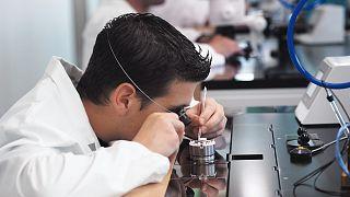 Inside Breitling's laboratory.
