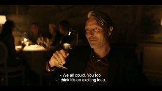 "Un fotograma de la película danesa ""Druk"", de Thomas Vinterberg"