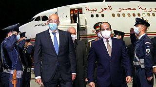Υποδοχή του προέδρου της Αιγύπτου Αμπντέλ Φατάχ αλ Σίσι από τον Ν. Δένδια στην Αθήνα