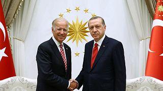 Joe Biden ile Recep Tayyip Erdoğan / 2016 Arşiv