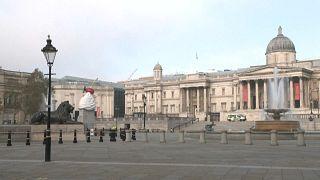 London's Trafalgar Square during lockdown this year