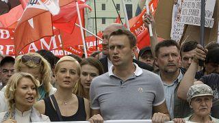 Алексей Навальный во время митинга 6 мая 2012 года.