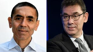 BioNTech kurucusu Uğur Şahin, Pfizer CEO'su Albert Bourla