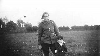 This undated picture provided by offspring Alexandre Bremaud, taken in the Haute Vienne region, the youngest member of the Second World War French resistance (L).