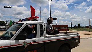 Patrouille de police au Mozambique