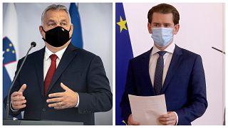 Orbán Viktor magyar miniszterelnök és Sebastian Kurz osztrák kancellár