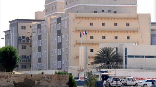 أمام مقر القنصلية الفرنسية في جدة (السعودية) - صورة من الأرشيف