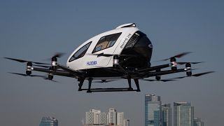 В Сеуле показали беспилотные летающие такси