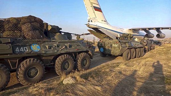 ورود نخستین کاروان نظامیان صلحبان روسیه به ارمنستان