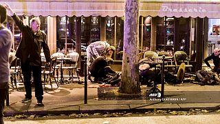"""Terrasse du café """"La Bonne Bière"""" à Paris, le 13 novembre 2015"""